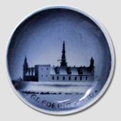 Kronborg in Elsinore Aluminia plaquette Merry Christmas