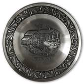 1974 Astri Holthe Norwegian Pewter Christmas plate, Christmas in Telemark