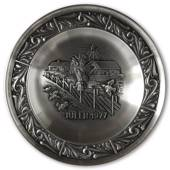 1977 Astri Holthe Norwegian Pewter Christmas plate, Christmas Sheaf