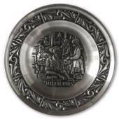 1985 Astri Holthe Norwegian Pewter Christmas plate, Christmas baking
