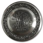 1995 Astri Holthe Norwegian Pewter Christmas plate, Christmas Mail