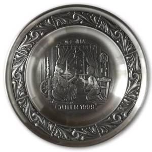 1999 Astri Holthe Norwegian Pewter Christmas plate, Christmas - A Season of...