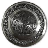 2004 Astri Holthe Norwegian Pewter Christmas plate, Season of Advent