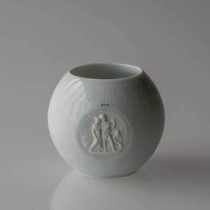 White Bing & Grøndahl vase with relief | Year 1995 | No. B1290 | DPH Trading