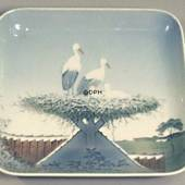 Dish with A Stork's Nest, Bing & grondahl no. 1024324 / 1300-6583
