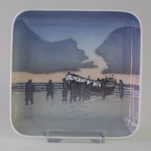 Dish with The Lifeboat, Bing & Grondahl no. 1024326 / 1300-6622 | No. B1300-6622 | Alt. 1024326 | DPH Trading