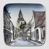 Dish with The Belfry in Faaborg, Bing & Grondahl