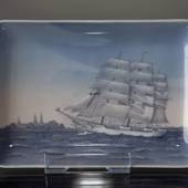 Dish with the training ship Danmark, Bing & Grondahl no. 1024330 / 1301-659...