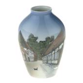 Vase with The Old Town in Aarhus, Bing & Grondahl No. 1302-6238