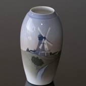 Vase with old Dutch windmill, Bing & Grondahl No. 1302-6251