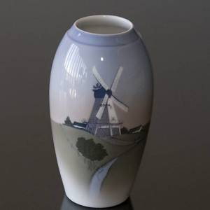 Vase with old Dutch windmill, Bing & Grondahl No. 1302-6251 | No. B1302-6251 | Alt. 1024341 | DPH Trading