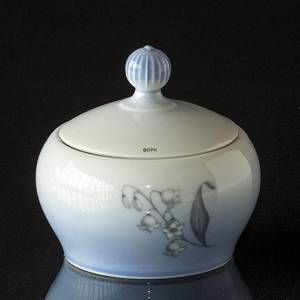 Sugar bowl with Lily-of-the-Valley, Bing & grondahl | No. B157-302 | DPH Trading