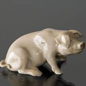 Sitting pig, Bing & Grondahl figurine no. 1020405