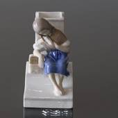 The little Match Girl with match holder, Bing & Grondahl figurine No. 1655