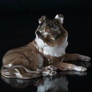 Collie, lying down, Bing & Grondahl dog figurine