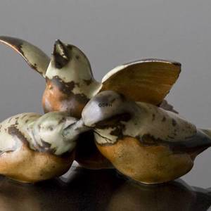 Family of Sparrows, Bing & Grondahl stoneware figurine No. 1670 | No. B1670-S | DPH Trading