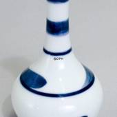 White vase with blue-green pattern, Bing & Grondahl