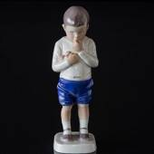 Peter, boy standing with apples, Bing & Grondahl figurine No. 1696