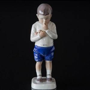 Peter, boy standing with apples, Bing & Grondahl figurine No. 1696 | No. B1696 | DPH Trading