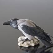 Crow perched on a rock looking inquisitive, Bing & Grondahl bird figurine N...