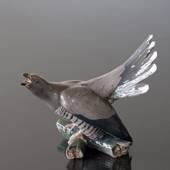 Cuckoo sitting on branch screeching, Bing & Grondahl bird figurine no. 1020...