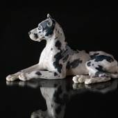 Great Dane lying down, Bing & Grondahl dog figurine