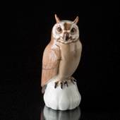Small owl on plinth, Bing & Grondahl bird figurine