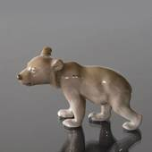 Brown bear cub standing inquisitively, Bing & Grondahl figurine