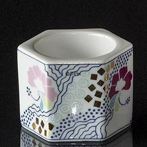 Tea-light Candleholders White with flowers, Bing & Grondahl No. 1872-5464 | No. B1827-5464 | DPH Trading