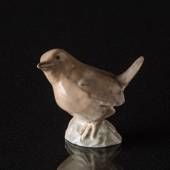 Wren looking up to the sky, Bing & Grondahl bird figurine No. 1853