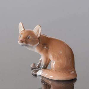 Fox, Sitting, 16cm, Bing & Grondahl figurine