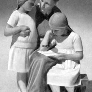 Mother with 2 girls, Bing & Grondahl figurine