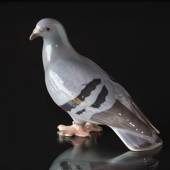Pigeon looking for bread crumbs, Bing & Grondahl porcelain bird figurine