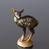 Deer standing looking shocked, Bing & grondahl stoneware figurine