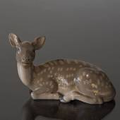 Deer lying down looking to the side, Bing & Grondahl figurine