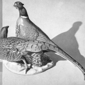 Pair of pheasants, Bing & Grondahl bird figurine | No. B1952 | DPH Trading