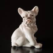 Bulldog puppy looking lazily to the side, Bing & Grondahl dog figurine
