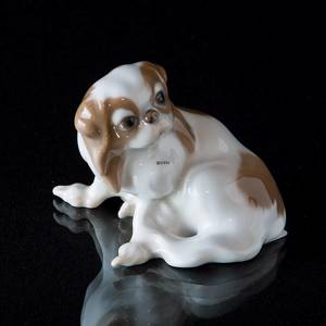 Pekinese sitting, Bing & Grondahl dog figurine
