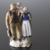 Fisherman's family with the child lifted high, Bing & Grondahl figurine