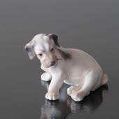 Sealyham Terrier sitting down, Bing & Grondahl dog figurine No. 2027