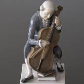 Cellist, Bing & Grondahl figurine, Gentleman Playing Cello No. 2032