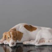 Pointer lying down, Bing & Grondahl dog figurine