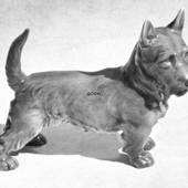 Scottish Terrier Standing, 19cm, Bing & Grondahl dog figurine