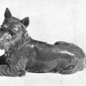 Scottish Terrier lying down, Bing & Grondahl dog figurine