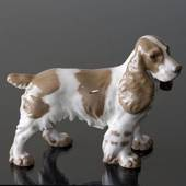 Springer spaniel standing at attention, Bing & Grondahl dog figurine No. 20...
