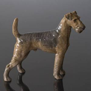 Airedale Terrier, Bing & Grondahl dog figurine