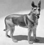 German Shephard, standing, Bing & Grondahl dog figurine