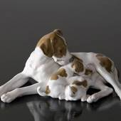 Pointer with puppies, Bing & Grondahl dog figurine