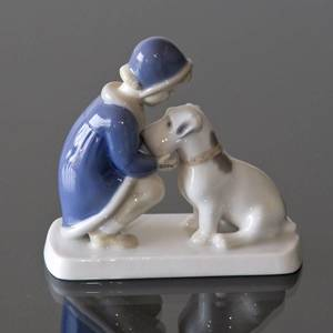 Girl with Dog, Bing & Grondahl figurine