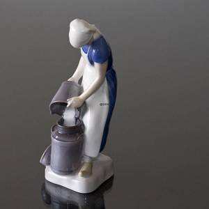 Girl pouring milk into a Milkcan, Bing & Grondahl figurine